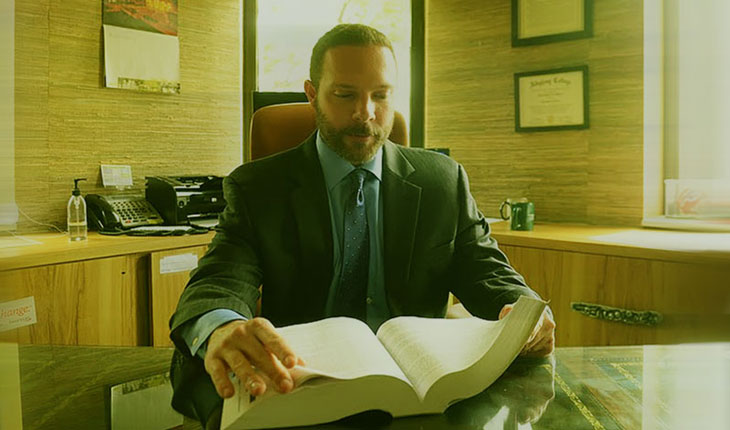 Attorney Christopher N. Godios at his desk